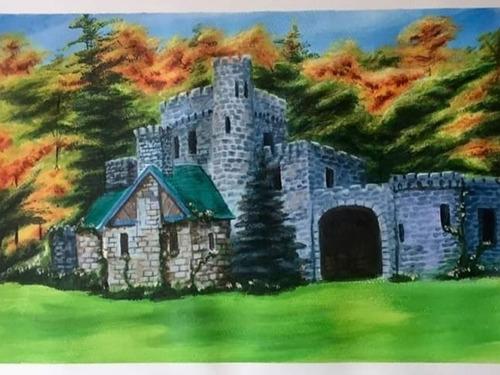 Castillo, Obra De Arte, Cuadro Pintura Oleo Acrílico