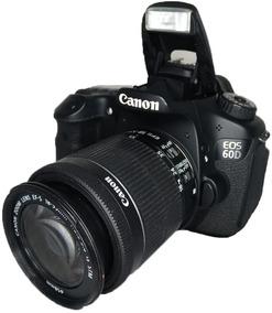 Canon 60d Usada Excelente Estado + Lente 18-55mm Perfeita