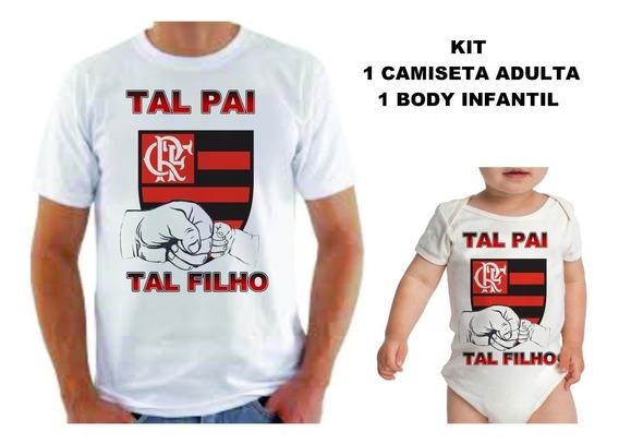 Kit Tal Pai Tal Filho Futebol Camiseta + Body Bory Bodies