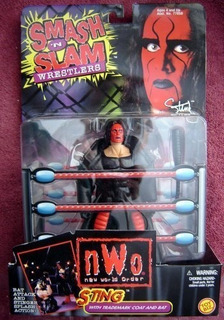 Sting Smash N Slam Wrestling Figure Nwo Wwe Wwf Wcw