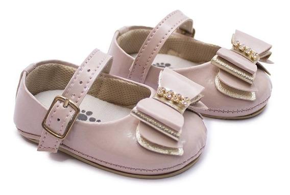 Sapato Feminino Luxo Laço Infantil Para Batizado