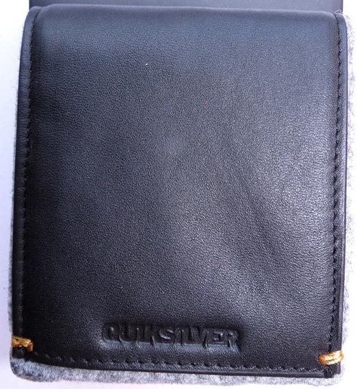 Billetera Quiksilver De Cuero 100 % Original.