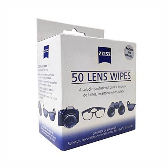 Lens Wipe Zeiss Com 50 Lenços Umedecidos - Temos Loja