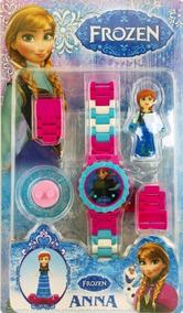 Relógio Infantil Digital Frozen Brinquedo Anna Lego