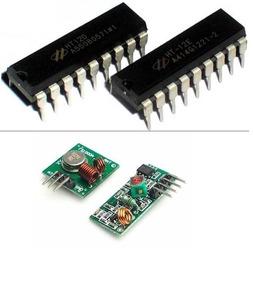Kit Ht12d Ht12e + Rf 433mhz Trasmissor E Receptor