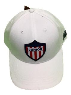 Gorra Junior De Barranquilla Oficiales Original Curva Blanca
