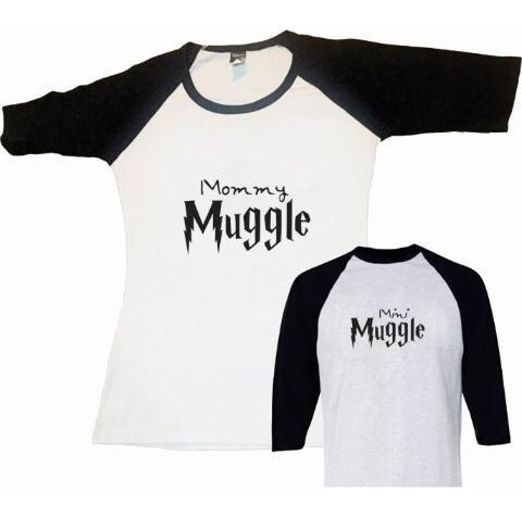 Pkt Familia 2 Playeras Y 1 Pañalero Harry Potter
