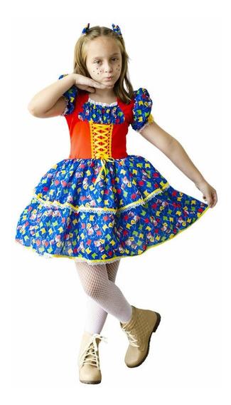 Vetido Caipira Festa Junina Infantil Luxo