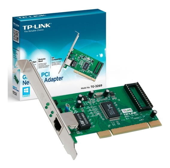 Placa Rede Pci Tp-link Gigabit Pci Tg-3269 10/100/1000mbps