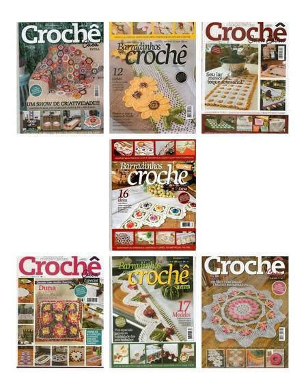 Kit 7 Revistas Barradinhos Em Crochê Coleção Círculo