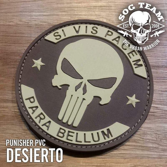 Parche Punisher Pvc Goma Desert Arena Baja Visibilidad Seal