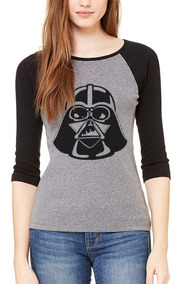 Playera Blusa Star Wars Darth Vader Raglan #442