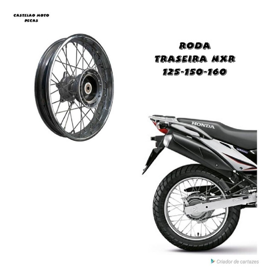 Roda Montada Traseira Honda Nxr Bros 125-150-160