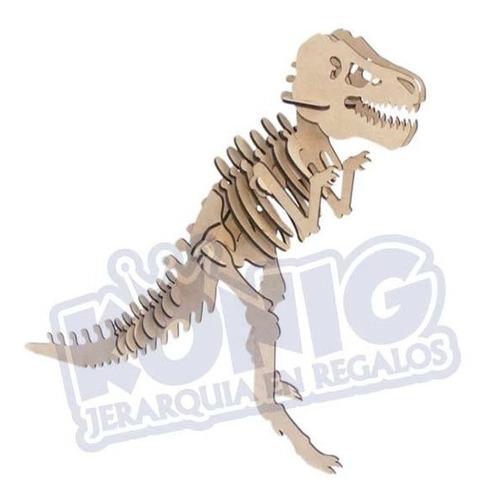 Rompecabezas 3d Mdf, Figura Tiranosaurio Rex Armable