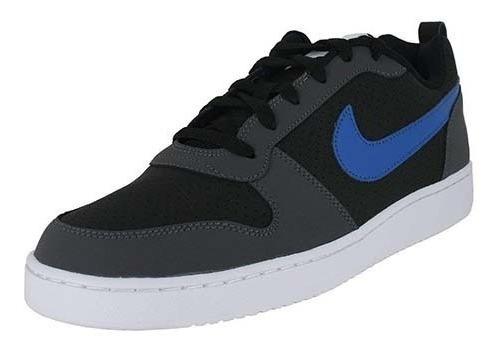 Tenis Original N I K E Court Borough Low Preto Azul