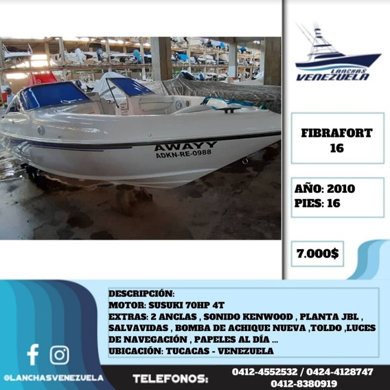 Lancha Fibrafort 16 Lv562