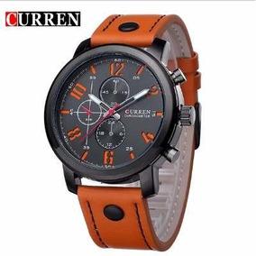Relógio Masculino De Pulseira De Couro, Curren, Promoção