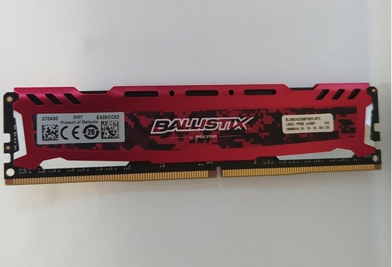 Memoria Crucial Ballistix Ddr4 16gb (2x8) 2666mhz