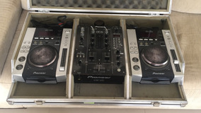 Cdj 200 Pioneer +mixer Pioneer Djm400 +case Kit Dj Completo