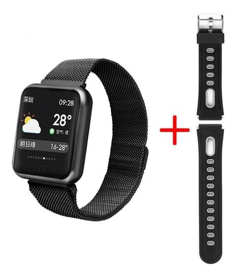 Relógio Smartwatch P68 Com Duas Pulseiras + Película Brinde