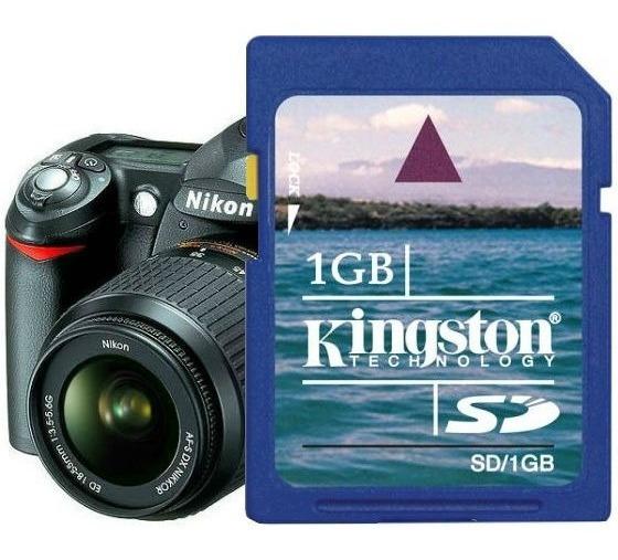 Cartão De Memória Sd Secure Digital 1gb / Nikon D50 / R001 E