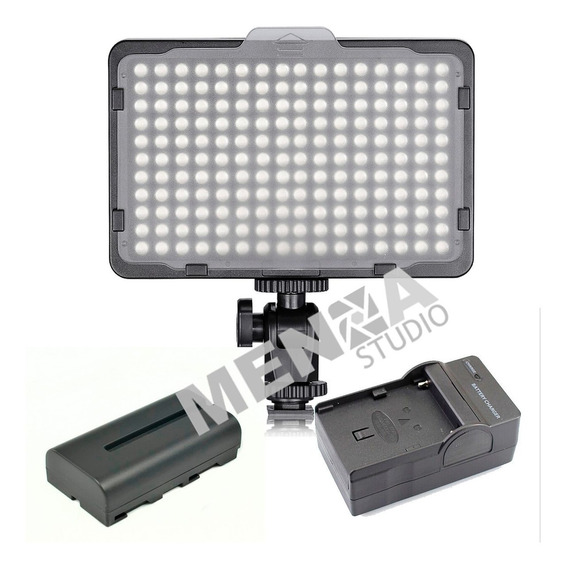 Kit Lampara Profesional Video 176 Leds Incluye Pila Y Cargad