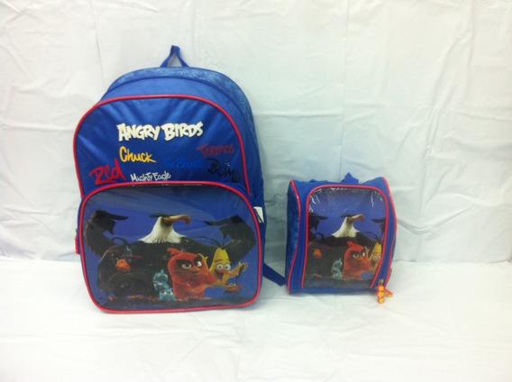 Kit Mochila +lancheira Angry Birds 801302