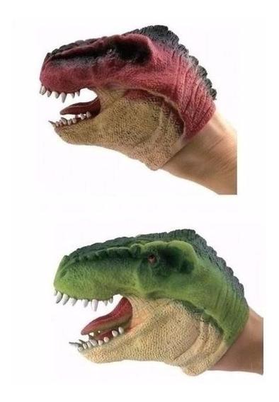 Dinossauro Dino Fantoche Kit Com 2 Peças Dtc