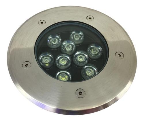 Imagem 1 de 7 de Balizador Luminária Luz Led 9w Embutir Chão Branco_quente