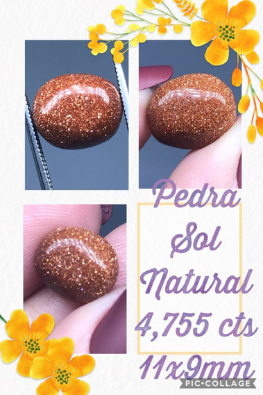 Pedra Do Sol Oval Natural 4 755 Cts 11x9 Mm