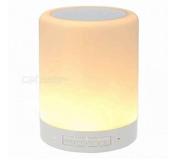 Corneta Bluetooth Portatil Lampara Led Sd Aux Radio Touch