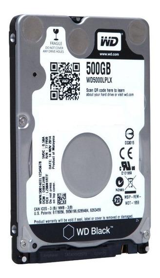 Hd Notebook 500gb Sata3 Western Digital Black - Wd5000lplx (