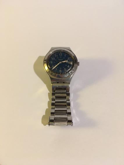 Relógio Suíço Swatch Original Usado Metal Ponteiro Parado