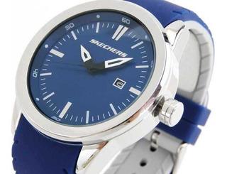 Reloj Skechers De Caballero,combinado En Azul Y Plata Sr5006