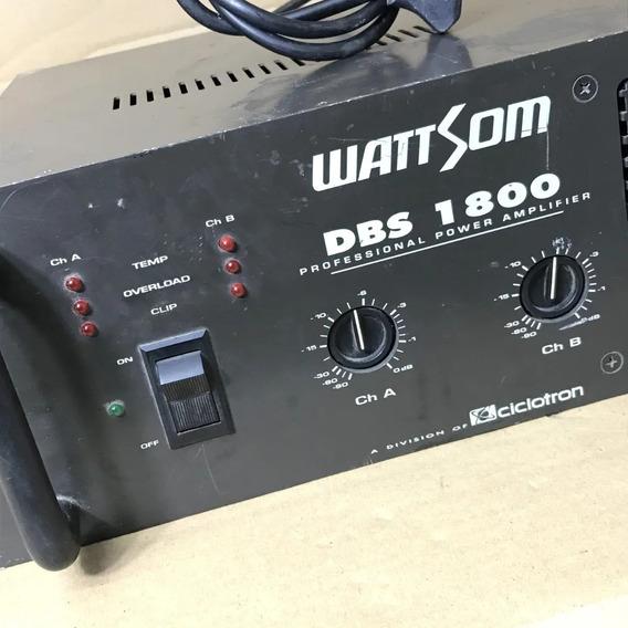 Amplificador De Potência Wattsom Dbs 1800 Usada Fotos Reais!