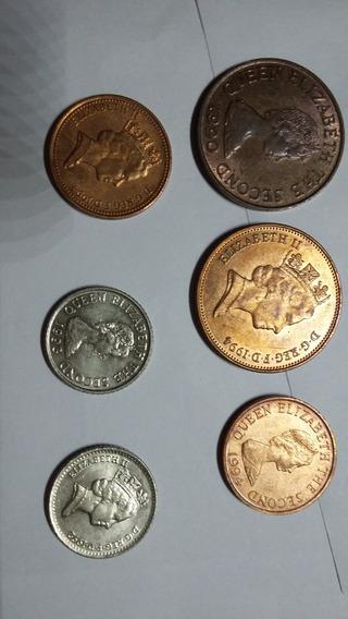 Lote De Monedas Inglesas Queen Elizabeth