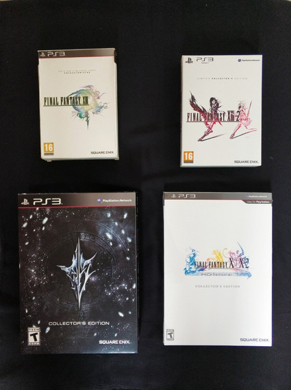 Kit 3 Final Fantasy Xiii -xiii2 E Lr Collectors Edition Ps3