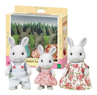 Sylvanian Familia Conejos X 3 Original 5124 Juguete Rabbit