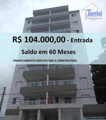 Apartamento Em Praia Grande, Mirim, 02 Dormitórios Sendo 01 Suite, Ap1449 - Ap1449