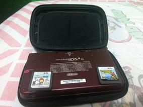 Nintendo Dsixl Vermelho Completo Com Case 2 Jogos Caneta Etc