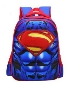 Mochila Infantil 3d Modelo Superman Reforçada Pronta Entrega