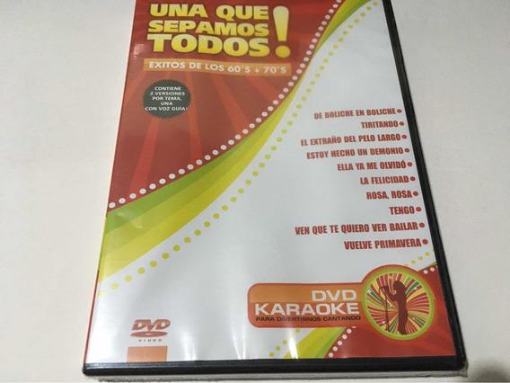 Karaoke 60 Y 70 Una Que Sepamos Todos Dvd Nuevo Cerrado