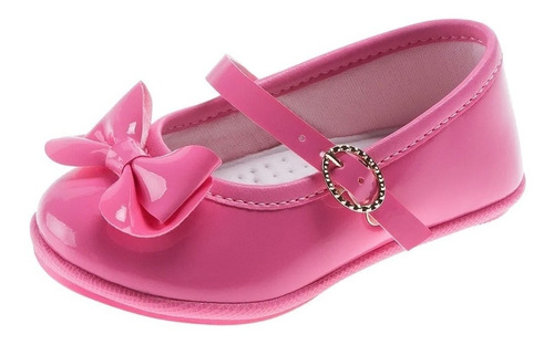 Imagem 1 de 7 de Sapato Social Bebê Pimpolho Com Laço Rosa 16 E 17