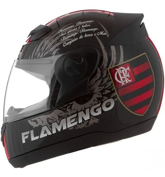 Capacete Flamengo Moto Fechado Pro Tork + Copo Térmico
