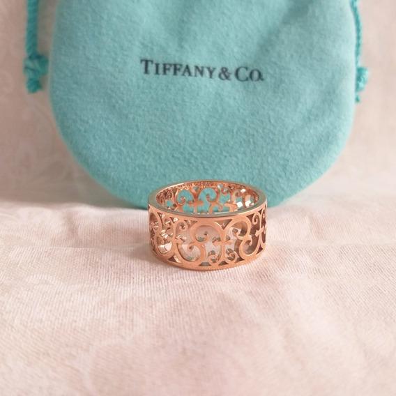 Aliança Tiffany Em Ouro Rose
