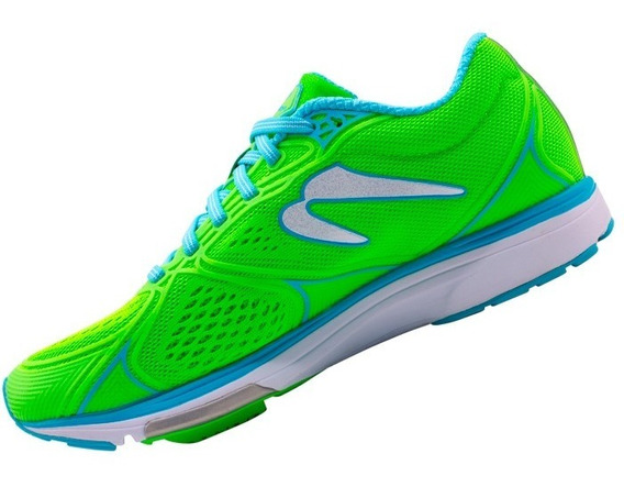 Tenis Correr Newton Running Fate 5 Mujer Verde/azul