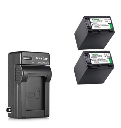 Imagen 1 de 1 de 2 Baterías + Cargador Np-fv100 Np-fv70 Marca Kastar