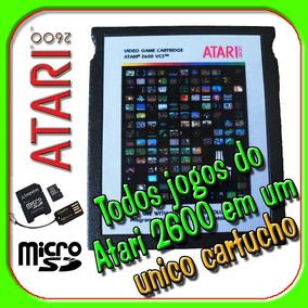 Cartucho Com Todos Jogos Do Atari 2600 Em Cartão Sd Incrivel
