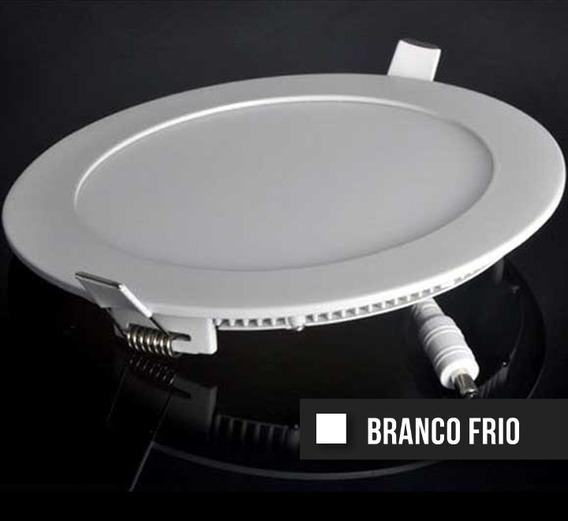 Kit C/ 10 Painel Plafon Led Slim 24w Branco Frio Redondo Biv