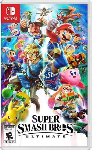 Super Smash Bros Ultimate Switch Mídia Física Lacrado Novo